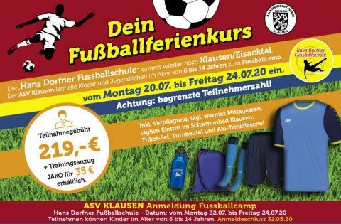 Fussballcamp Hans Dorfner 2020